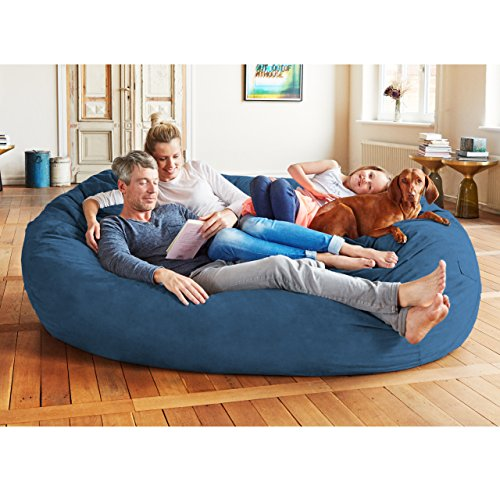 Lumaland Luxury 7 Foot Bean Bag Chair With Microsuede