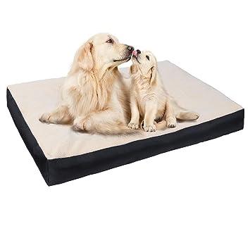 E-Starain Cama para Perros Gota para Mascotas Animal del Perrito Sofa del Pieles de venado Acolchada Cómodo Negro 90 * 70 * 10cm: Amazon.es: Productos para ...