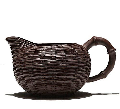 220cc Chinese Yixing Handmade Zisha Pure Clay Cha Hai Tea Pitcher Zi Ni Zhu Bian Cup