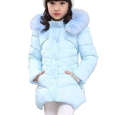 e3109f088 RUOGU Girls Winter Coat,Toddler Kids Cotton Jackets Snowsuit Hooded  Windbreaker Outwear with Soft Fur