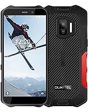 """OUKITEL WP12 Pro (2021) Outdoor Smartphone bez umowy, Android 11 Outdoor Handy (237 g), 4 GB + 64 GB, Dual SIM 4G, IP68 IP69K wodoszczelny, 4000 mAh, potrójny aparat 13 MP, 5,5"""" kamera Face ID/NFC (czerwona)"""