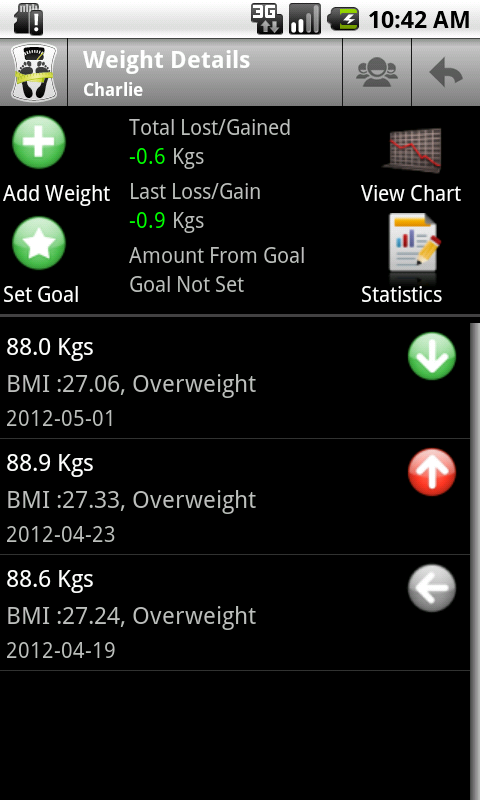 Body Measurement Tracker App For Android