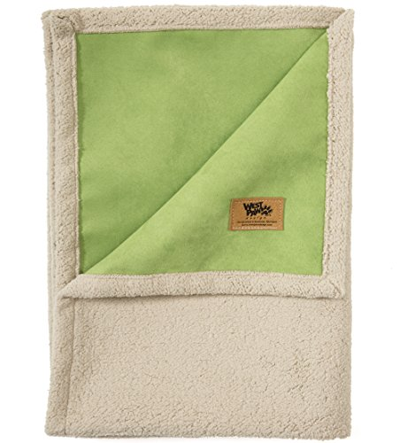 West Paw Big Sky Dog Blanket and Throw, Faux Suede/Silky Soft Fleece Pet Throw Blanket for Couch, Furniture Chair and Bed, Jade, Medium