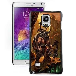 NEW DIY Unique Designed Samsung Galaxy Note 4 Phone Case For Diablo III Barbarian Phone Case Cover
