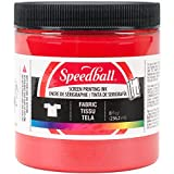 Speedball Art Products 465281 Fabric Screen Printing Ink, 8 oz, Red