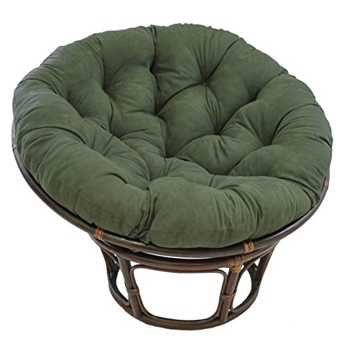 (Blazing Needles Solid Microsuede Papasan Chair Cushion, 52