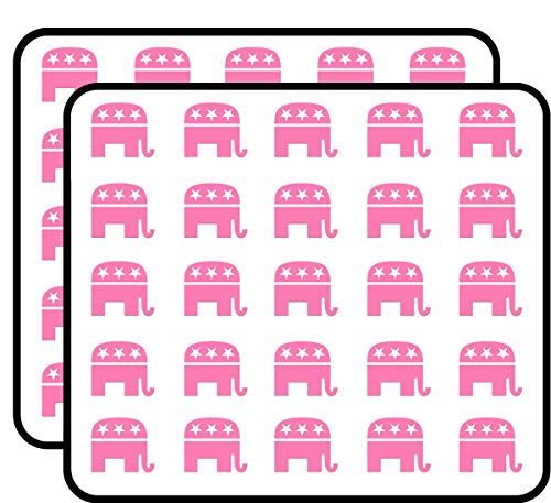 Pink GOP Republican Elephant Shaped (Woman Women Female) Sticker for Scrapbooking, Calendars, Arts, Kids DIY Crafts, Album, Bullet Journals