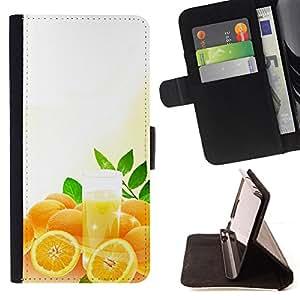 - Cool Orange Juice - - Monedero PU titular de la tarjeta de cr????dito de cuero cubierta de la caja de la bolsa FOR Samsung Galaxy S5 Mini, SM-G800 RetroCandy