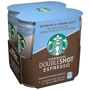 Amazon Com Starbucks Double Shot Espresso Light 6 5 Fl Oz