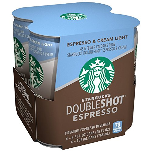 Starbucks Doubleshot, Light, 4-Pack, 6.5 oz Cans