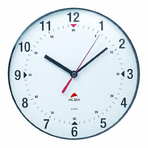 Alba Horclas Une horloge de mur circulaire (diamètre de 25 cm) Blanc