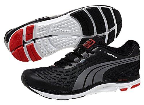 PUMA Men's Faas 600 V2 Running Shoe,Black/Steel Gray,8 M US