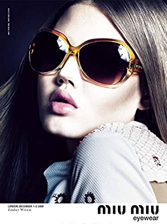 9ba128b9aef Amazon.com    PRINT AD   With Lindsey Wixson For 2009 Miu Miu Sunglasses    PRINT AD    Entertainment Collectibles