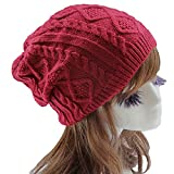 Knit Crochet Womens Beret Hat Winter Warm Beanie Cap