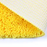 SHACOS Super Soft Bathroom Rugs Mats Polyester Microfiber Doormat Entrance Rug Floor Mats for Coffe Table/Bedroom/Kitchen/Outdoors,20 inch by 32 inch (Yellow)