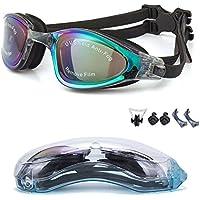 YJWB Swimming Goggles,Swim Goggles No Leaking Anti Fog UV...