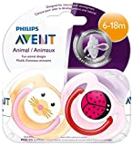 Philips Avent Soother Animal BPA Free 6-18 Month, Girl SCF182/15