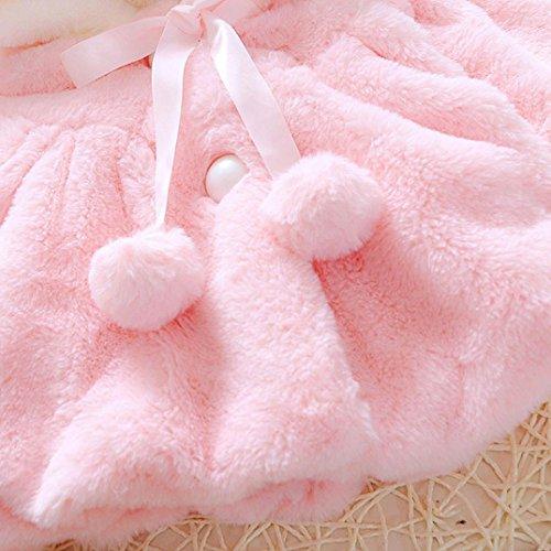 b4c14beb1 Muxika Dinlong Fashion Baby Girl Fur Winter Warm Coat Cloak Jacket Thick  Warm Clothes