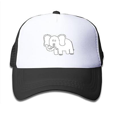 NO4LRM Kid's Boys Girls Cute Elephant Youth Mesh Baseball Cap Summer Adjustable Trucker Hat
