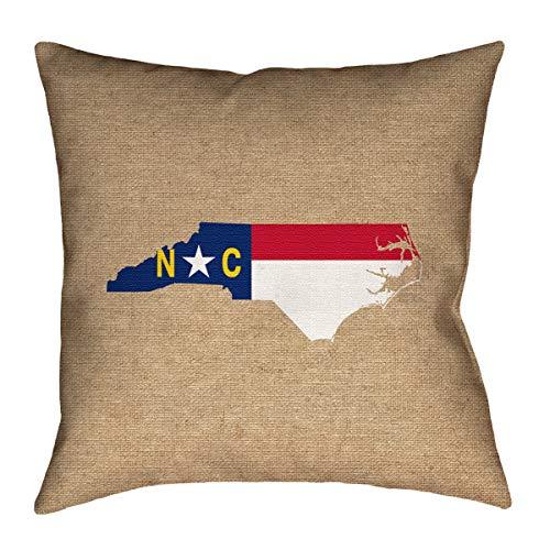 ArtVerse Katelyn Smith 18 x 18 Spun Polyester North Carolina Pillow