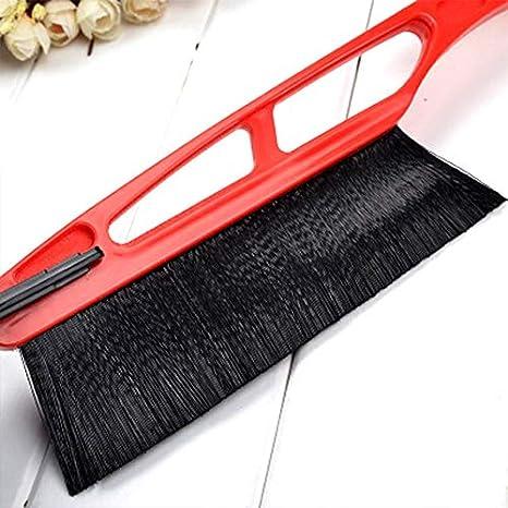 VCB Cepillo raspador de Hielo y Nieve Robusto Agarre Removedor de Escarcha para automóviles Limpiador automático de Pala para Nieve - Rojo