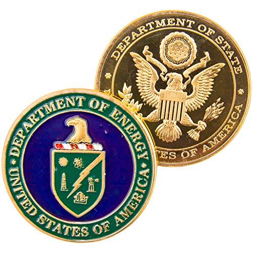 Art Crafter DOE Department of Energy Challenge Coin, Federal Energy Badge D005J DOE