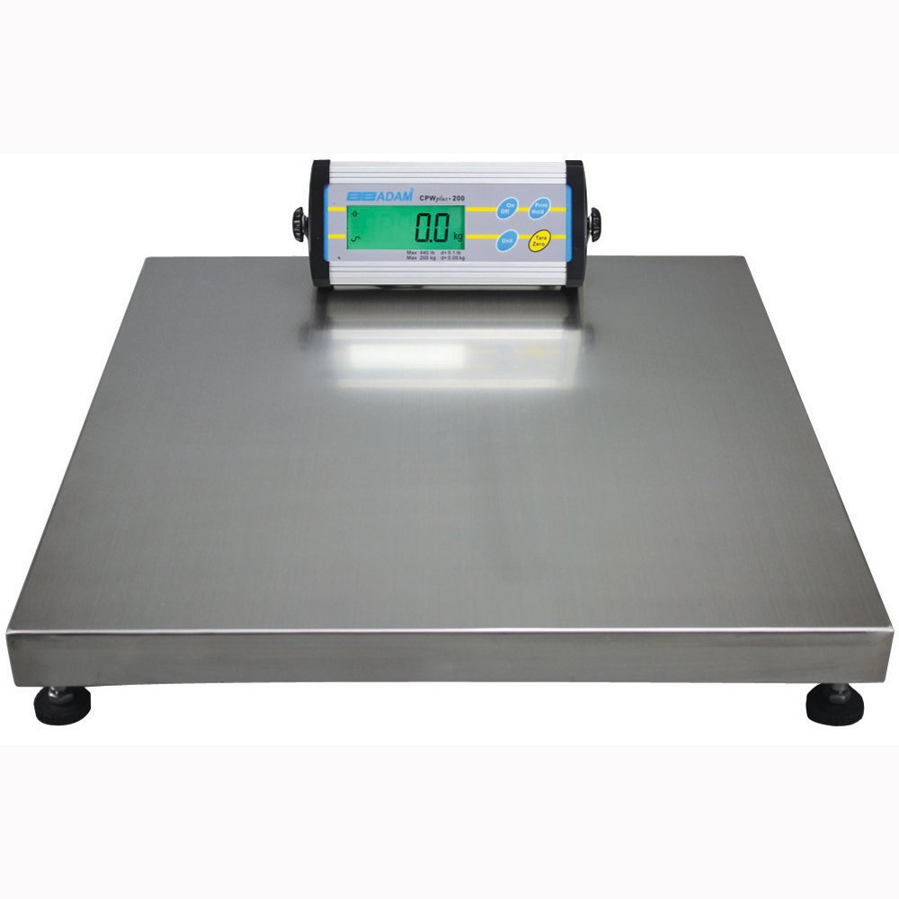 Adam Equipment CPWplus 150M Floor Scale, 330lb/150kg Capacity, 0.1lb/50g Readability