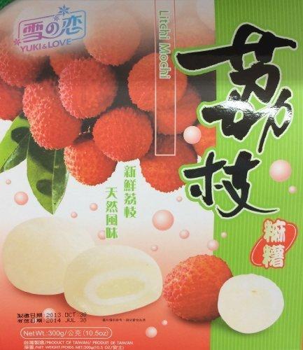 2 x 10.5 Yuki & Love Japanese Rice Cake Mochi Litchi Lychee by Yuki & Love by Yuki & Love