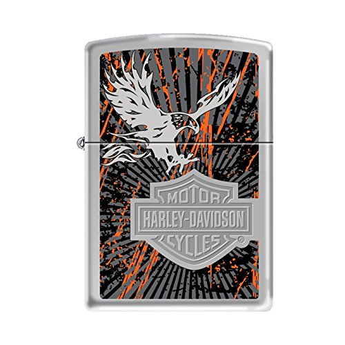 Harley Davidson High Polished Chrome Eagle Zippo Lighter 77819