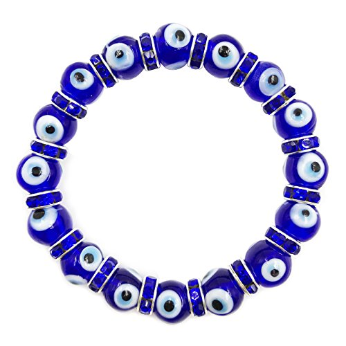 2723 10mm Blue Evil Eye Murano Bracelet for Women Kabbalah Protection and Good Luck