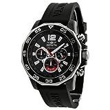 Invicta Signature II Chronograph Nautical Black Dial Black Rubber Mens Watch 7433