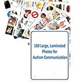 (FREE SHIPPING) 160 2-inch Laminated Photos for Autism Communication (compatible with PECS picture exchange communication system) and ABA