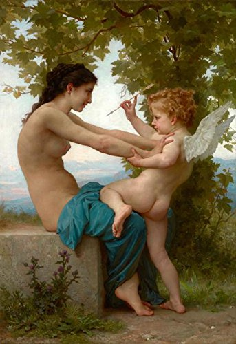 [Oil Painting 'William Adolphe Bouguereau-A Young Girl Defending Herself Against Eros,1880' 30 x 44 inch / 76 x 111 cm , on High Definition HD canvas prints, Bath Room, Dining Room And Foyer] (Cats The Musical Victoria Costume)
