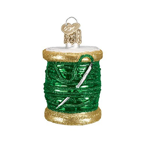 Old World Christmas Ornaments: Spool Of Thread Glass Blown Ornaments for Christmas Tree (32104)