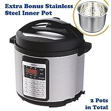 Bonus Pack Sonya Premium Programmable All-in-One Multi-functional Cooker (Pressure Cooker /Rice Cooker/ Slow Cooker, Steamer/ Warmer, Etc), 6Qt/1000W+Extra Stainless Steel Inner Pot