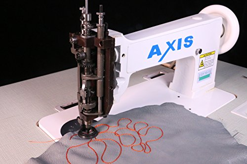 (Axis Single Needle Chain Stitch Embroidery Machine - Handle Operated Hand Crank- Replacement Vintage Cornely Singer 114w103 - Universal Feed Designs Chainstitch & Moss Stitch - Head Only)