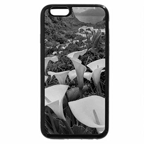 iPhone 6S Plus Case, iPhone 6 Plus Case (Black & White) - Beautiful Calla Flowers