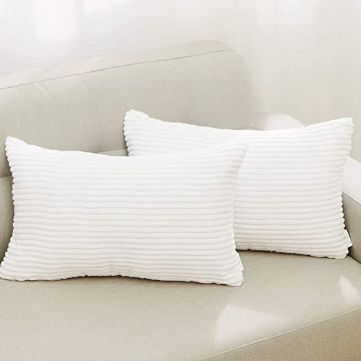 "12X20/""Rectangle Ivory Sheepskin Pillow 30x50cm Sofa Cushion Cover Fur pillowcase"