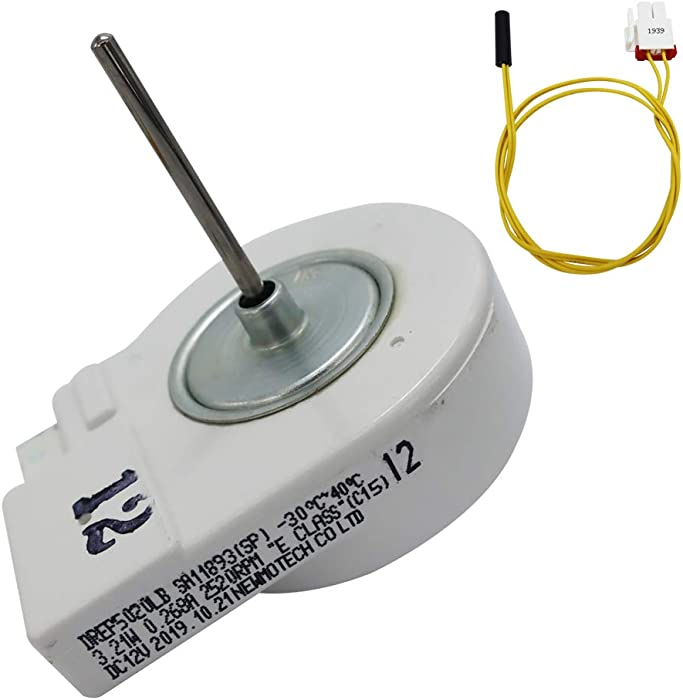 2Pcs Set of DA31-00146E Motor and DA32-00006W Refrigerator Defrost Temperature Sensor Compatible with Samsung Refrigerator