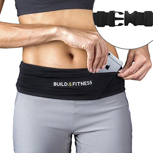 Running Belt, Fully Adjustable Fastener, Fitness Waist Belt, - Work Key Clip