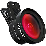 Xenvo iPhone Camera Lens Pro: Macro Lens & Wide Angle Lens Kit with LED Light, Clip-On Cell Phone Camera Lenses for iPhone, Android, Samsung Mobile Phones and Tablets