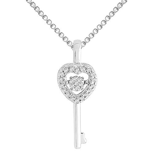 Amazon.com: Llavero de diamante de baile, chapado en rodio ...