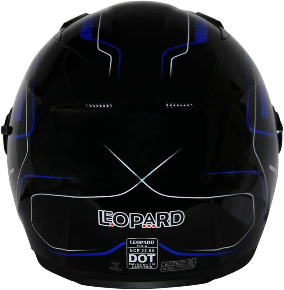 Leopard LEO-608 Casco Moto Jet Abierto con Doble Visera Mujer y Hombre para Motocicleta Ciclomotor y Scooter Bicicleta ECE Homologado
