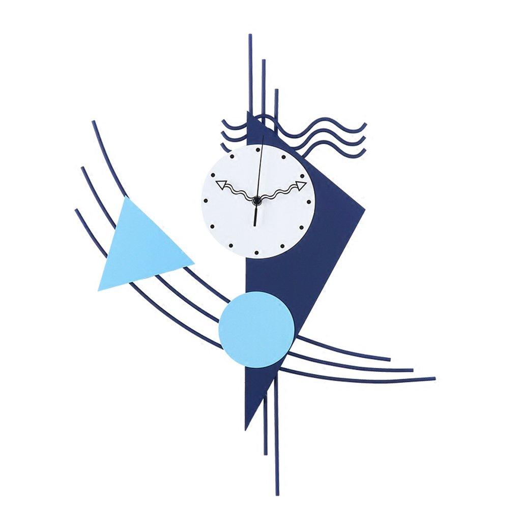 ウォールクロック、シンプルな壁の帆船の壁時計 リビングルームの寝室のオフィス、装飾された静かな時計。 B07D7TQ7XB
