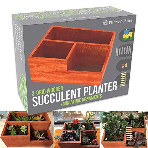 Wood Flower Plants Box Pot - 9