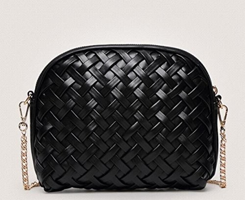 Chain Handbags Bag Messenger Woven Handmade Shoulder Bag Bag Bag Shell Diamonds Bag Ladies A Rhinestones zxwUtTUa