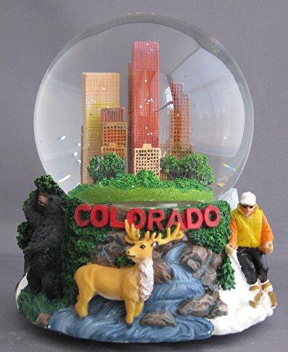 Musical Colorado Souvenir Snow Globe 100mm (100mm Snowglobe)