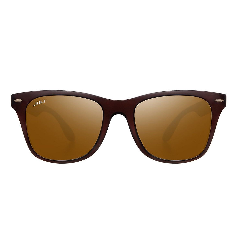 JULI® Mens Womens Mode Wayfarer Holz Bambus gedruckt wickeln Sie 52MM Sonnenbrille 4195WN M3SNN