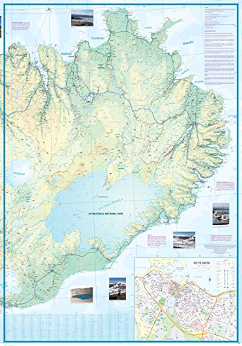 Iceland Travel Reference Map 1:400,000-2015