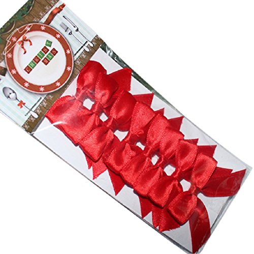 Lookatool 8 PCS Christmas Cute Butterfly Flower Fork Knife Decoration Bowknot (Knife Butterfly Coated)